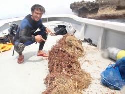 釣り糸の束