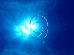 沖縄ダイビング バブルリング