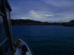 渡名喜島入港